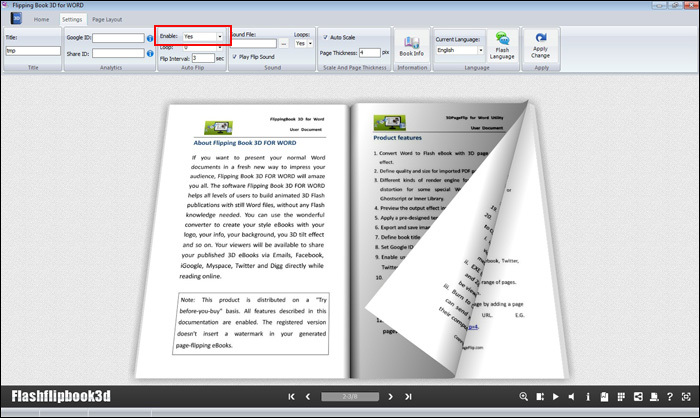 How To Make A Book Cover On Word : How to make my word d book flip automatically