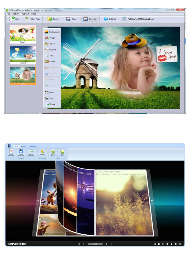 The Easiest 3D flipping photo album software