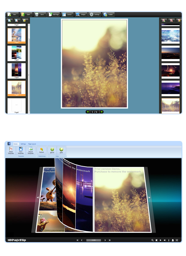 Click to view Flipping Book 3D for Photographer screenshots