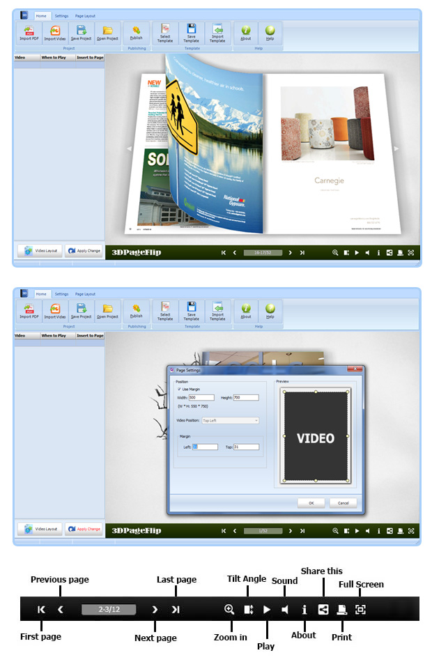 Flipping Book 3D for Video 2.9 full