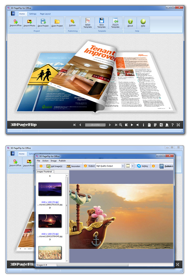 Click to view Flipping Book 3D for Word screenshots