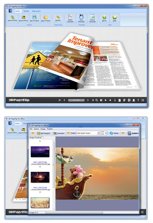 Windows 7 Flipping Book 3D for Writer 2.9 full