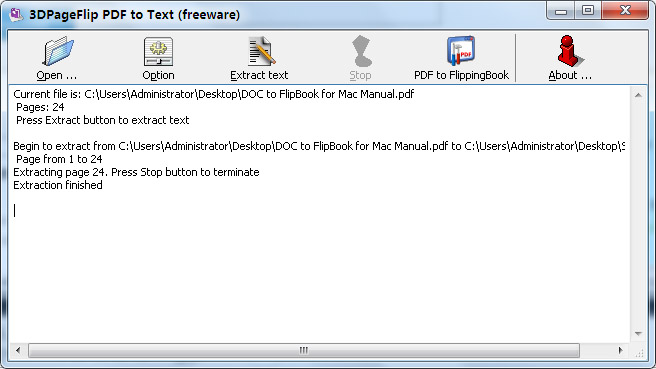 FlippingBook3D PDF to Text Converter (Freeware)