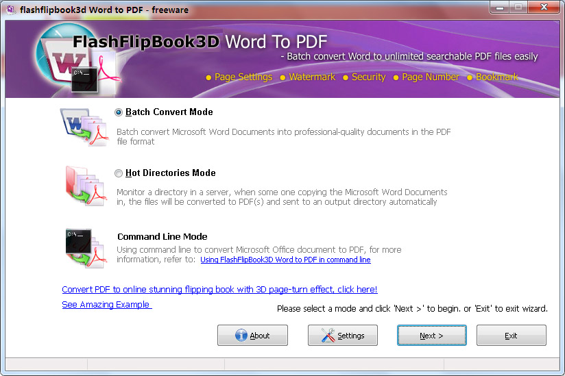 FlippingBook3D Word to PDF Conveter