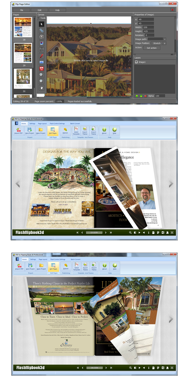Click to view PDF to Flipping Book 3D Pro 1.7 screenshot