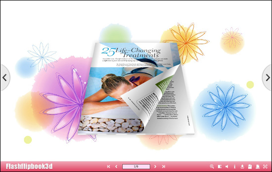 Flipping Book 3D Themes Pack: Aromatic 1.1 full