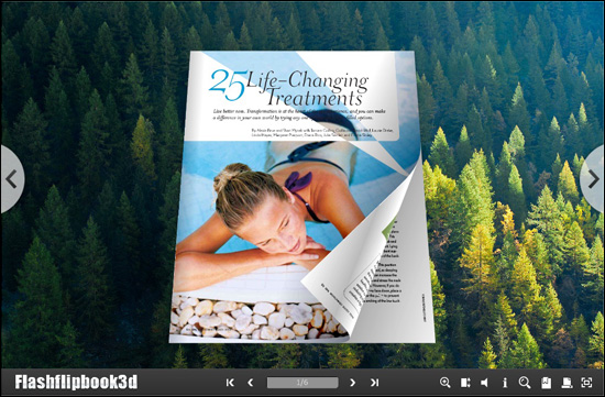 Flipping Book 3D Themes Pack: Natural