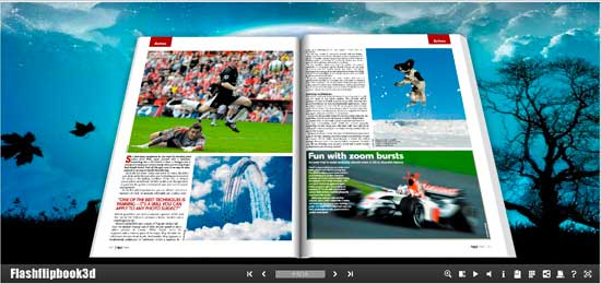 Windows 7 Flipping Book 3D Themes Pack: Moonnight 2.1 full